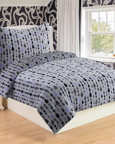 Obliečky mikroplyš Sorbo svetlosivá, 140 x 200 cm, 70 x 90 cm