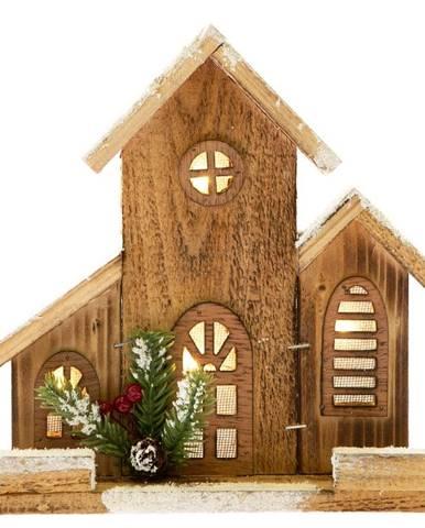 Dekoratíny osvetlený drevený domček Dakls