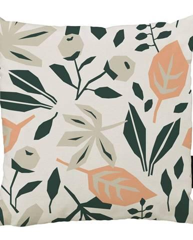 Vankúš s bavlnenou obliečkou Butter Kings Square Plants, 45 x 45 cm