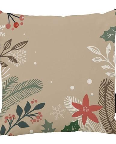 Vianočný vankúš s bavlnenou obliečkou Butter Kings Branches, 45 x 45 cm