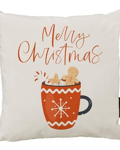 Vianočný vankúš s bavlnenou obliečkou Butter Kings Cacao, 45 x 45 cm