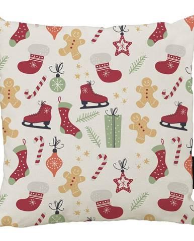 Vianočný vankúš s bavlnenou obliečkou Butter Kings Winter, 45 x 45 cm