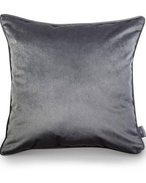 WeLoveBeds Sivá obliečka na vankúš WeLoveBeds Dark, 50 × 50 cm