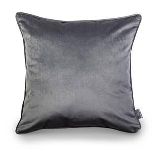 Sivá obliečka na vankúš WeLoveBeds Dark, 50 × 50 cm