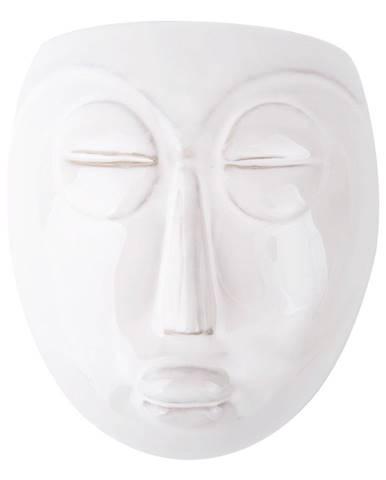 Biely nástenný kvetináč PT LIVING Mask, 16,5x17,5cm
