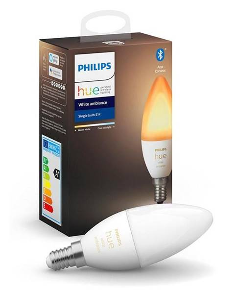 Philips Inteligentná žiarovka Philips Hue Bluetooth, 6W, E14, White