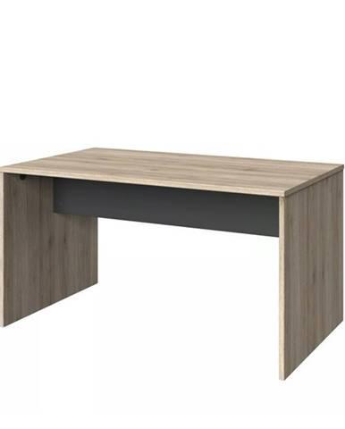 Písací stôl EMPOLI dub sanremo/grafit