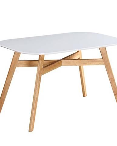 Jedálenský stôl biela/prírodná CYRUS 2 NEW