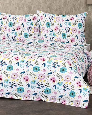 4Home Krepové obliečky Flowers, 220 x 200 cm, 2 ks 70 x 90 cm