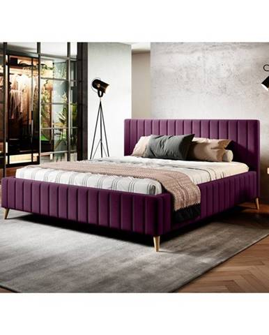 Posteľ SAGA fialová, 180x200 cm