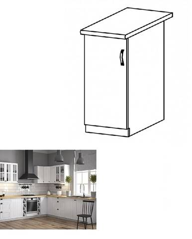 Dolná skrinka D30 ľavá biela/sosna andersen PROVANCE