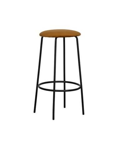 Okrovožltá barová stolička WOOOD Mina