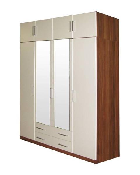 IDEA Nábytok Skriňa ESO 4-dverová 61540 orech/biela