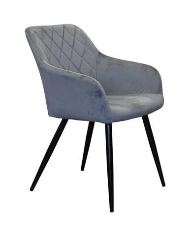 Jedálenská stolička DIAMANT sivý zamat