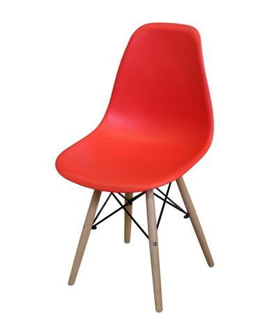 Jedálenská stolička UNO červená