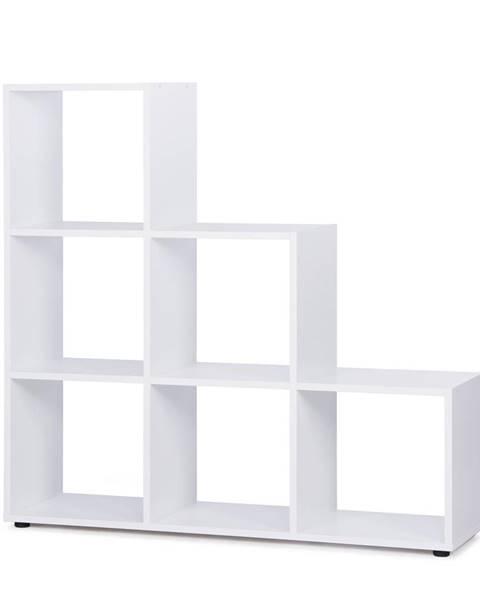 IDEA Nábytok Knižnica BERGAMO 1 biela