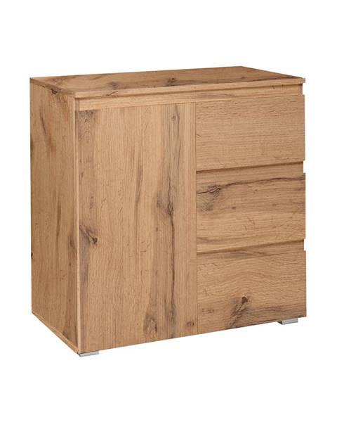 IDEA Nábytok Komoda 1 dvere + 3 zásuvky IMAGE 2 zlatý dub