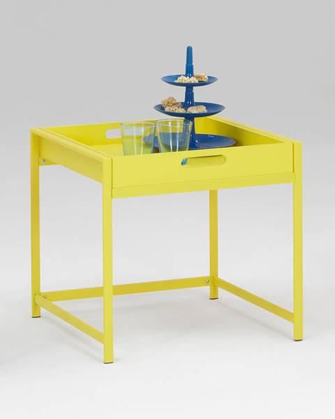 IDEA Nábytok Servírovací stolík ANNIKA žltý