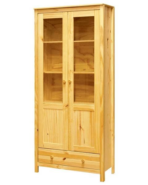 IDEA Nábytok Vitrína 2 dvere + 1 zásuvka TORINO