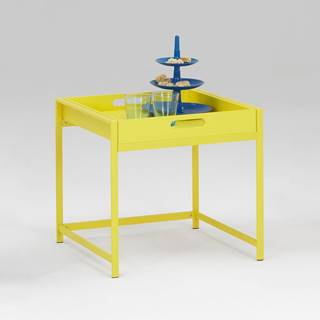 Servírovací stolík ANNIKA žltý