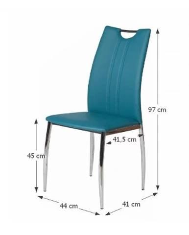 Tempo Kondela Jedálenská stolička OLIVA / petrolejová