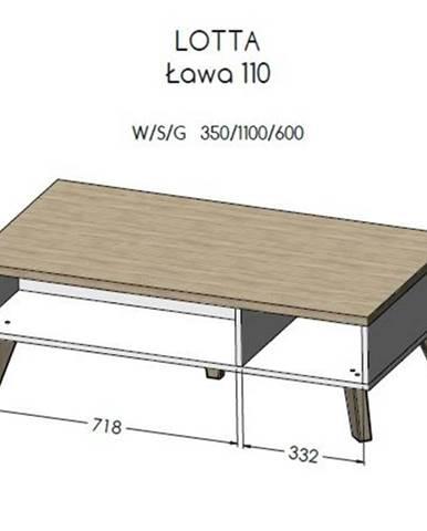 Artcam Konferenčný stolík Lotta 110 cm
