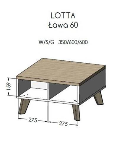 Artcam Konferenčný stolík Lotta 60cm