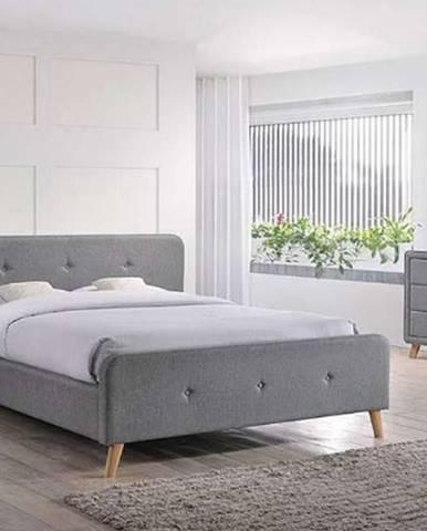 Signal Čalúnená manželská posteľ Malmo 140x200