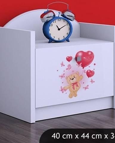 Happy Babies Nočný stolík HAPPY/ 08 Zamilovaný macko SZN02