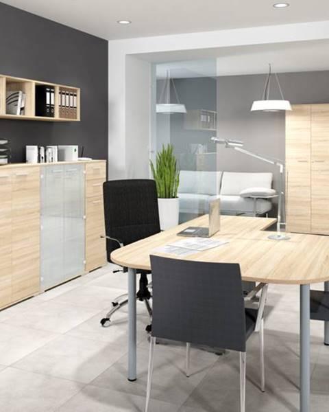 MLnábytok MLnábytok Kancelársky stôl OPTIMAL 14 / sonoma svetlá