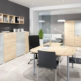 MLnábytok Kancelársky stôl OPTIMAL 14 / sonoma svetlá