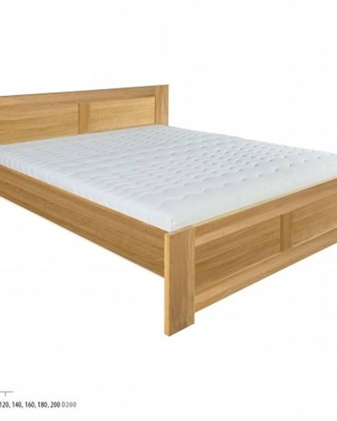 Drewmax Drewmax Manželská posteľ - masív LK212 | 160 cm dub