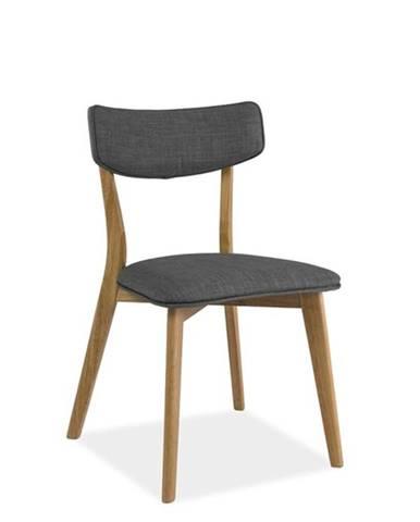 Signal Jedálenská stolička KARL / sivá