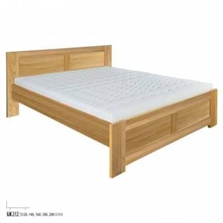 Drewmax Manželská posteľ - masív LK212   160 cm dub