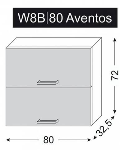 ArtExt Vrchná kuchynská skrinka Napoli W8B/80 AVENTOS POVRCHOVÁ ÚPRAVA DVIEROK
