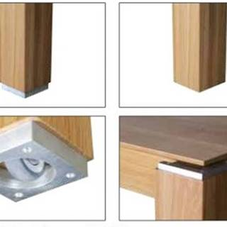Drewmax Jedálenský stôl - masív ST381 / dub