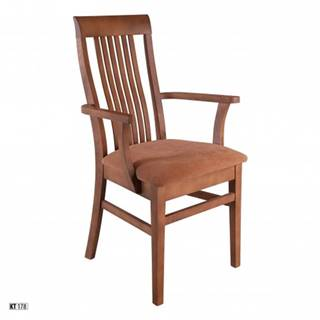 Drewmax Jedálenská stolička - masív KT178 | buk / látka