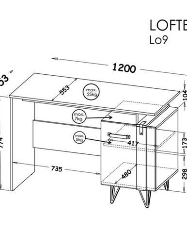 Dolmar Písací stolík Lofter LO9