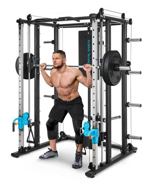 Capital Sports Capital Sports Pro Amaze Smith Machine Cable Cross, multifunkčný stroj na cvičenie