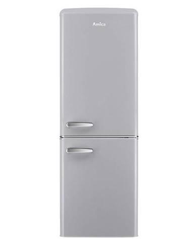 Kombinácia chladničky s mrazničkou Amica Retro VC 1622 G siv