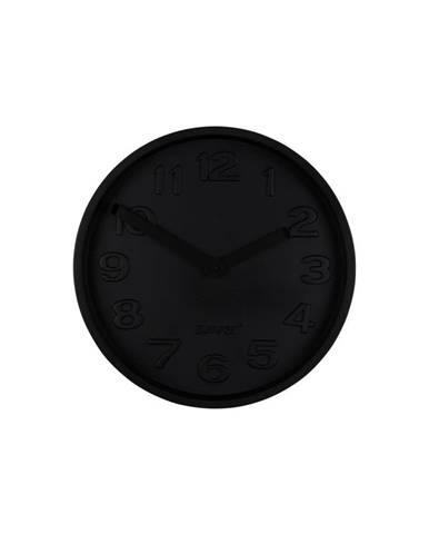 Čierne betónové nástenné hodiny s čiernymi ručičkami Zuiver Concrete
