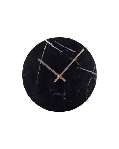 Čierne nástenné mramorové hodiny Zuiver Marble Time