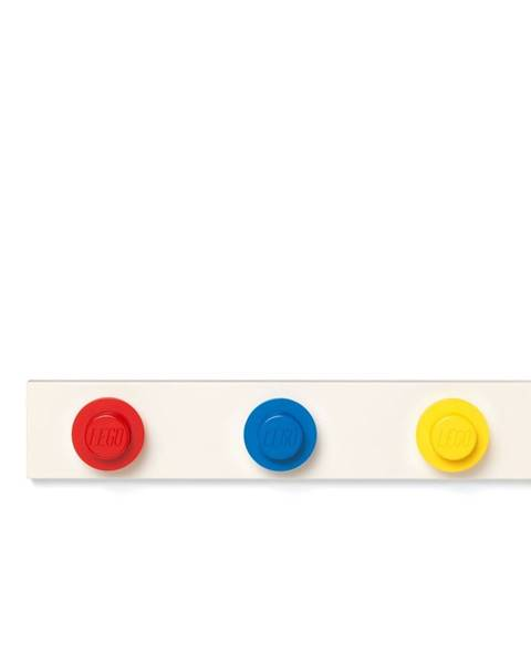 LEGO® Nástenný vešiak v červenej, modrej a žltej farbe LEGO®