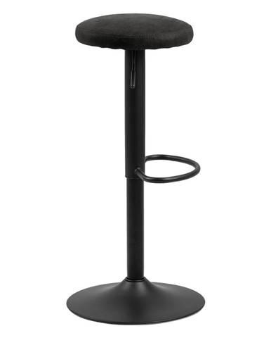 Barová stolička s čiernym polstrovaním Actona Finch