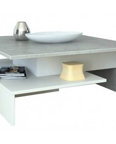 Konferenčný stolík AS-53, beton/biely%