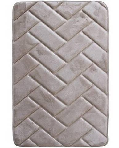 VOPI Kúpeľňová predložka s pamäťovou penou Parketa sivá, 50 x 80 cm