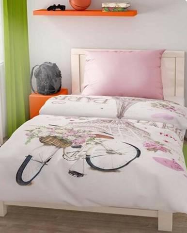 Kvalitex Bavlnené obliečky Paris Love, 140 x 200 cm, 70 x 90 cm