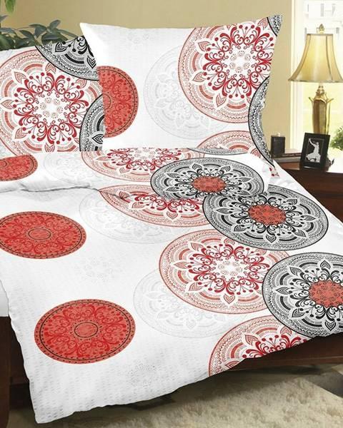Bellatex Bellatex Krepové obliečky Mandala červená