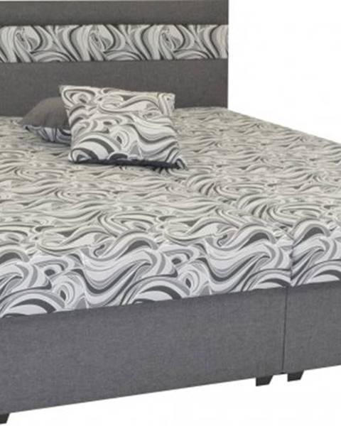 OKAY nábytok Čalúnená posteľ Mexico 180x200, šedá, vrátane úp