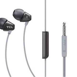 TCL slúchadlá do uší, drôtové, mikrofón, čierna